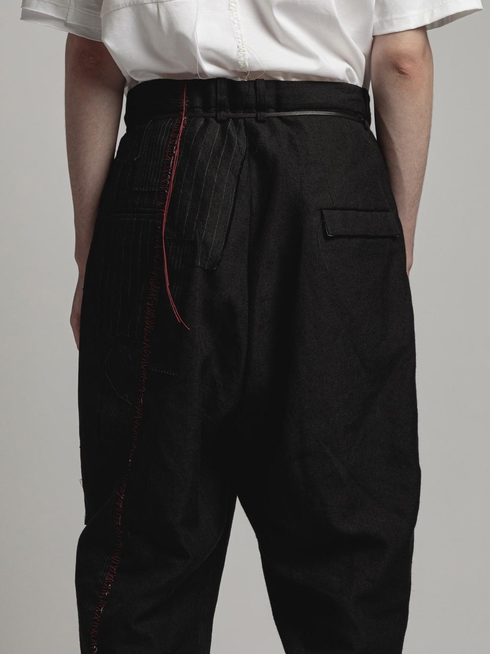 patched jogger pants