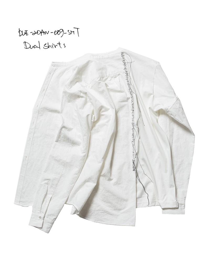 20-21AW DUE-20AW-009-SHT-WHT dual shirts