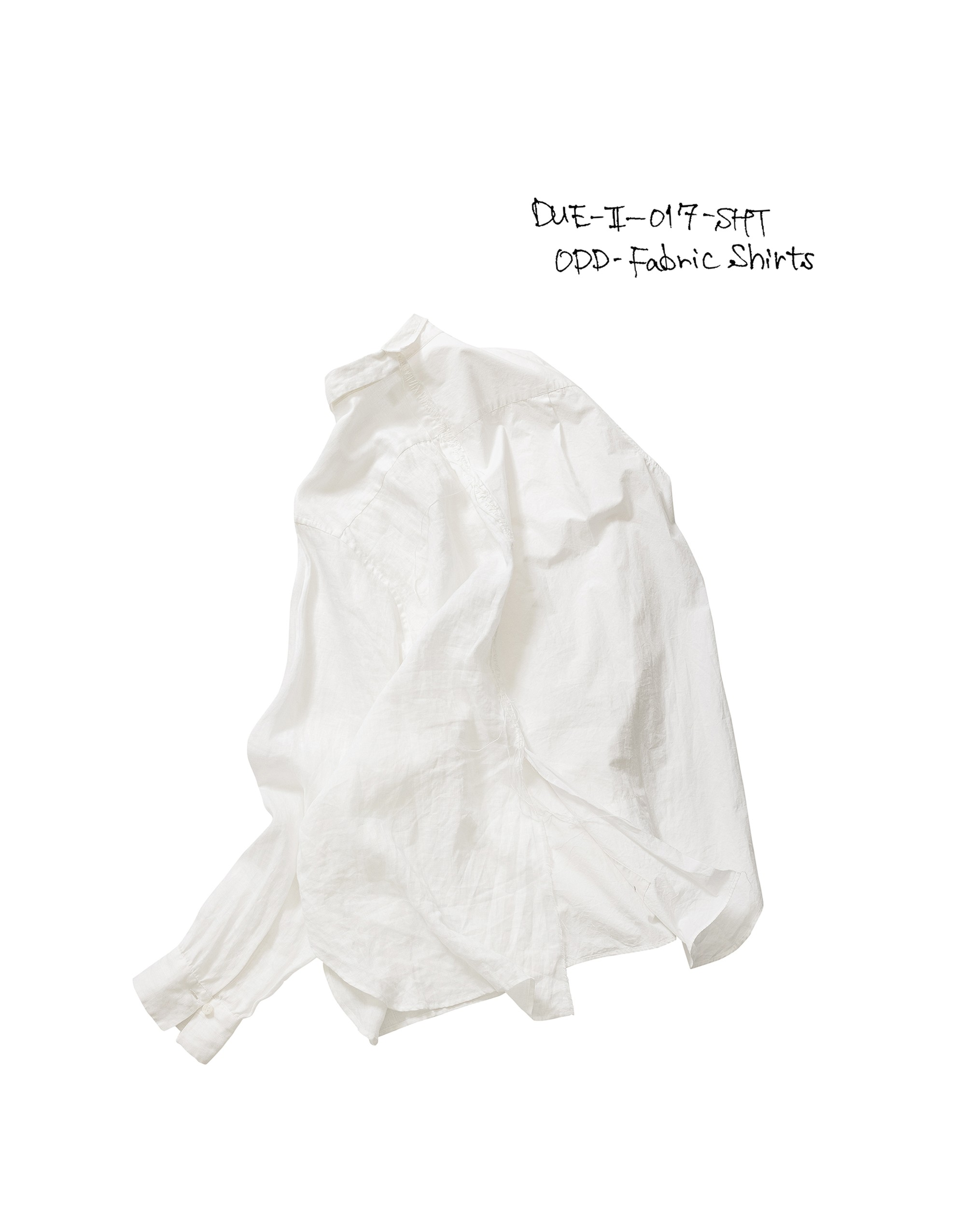 21SS DUE-Ⅱ-017-SHT-WHT ODD-FABRIC SHIRTS