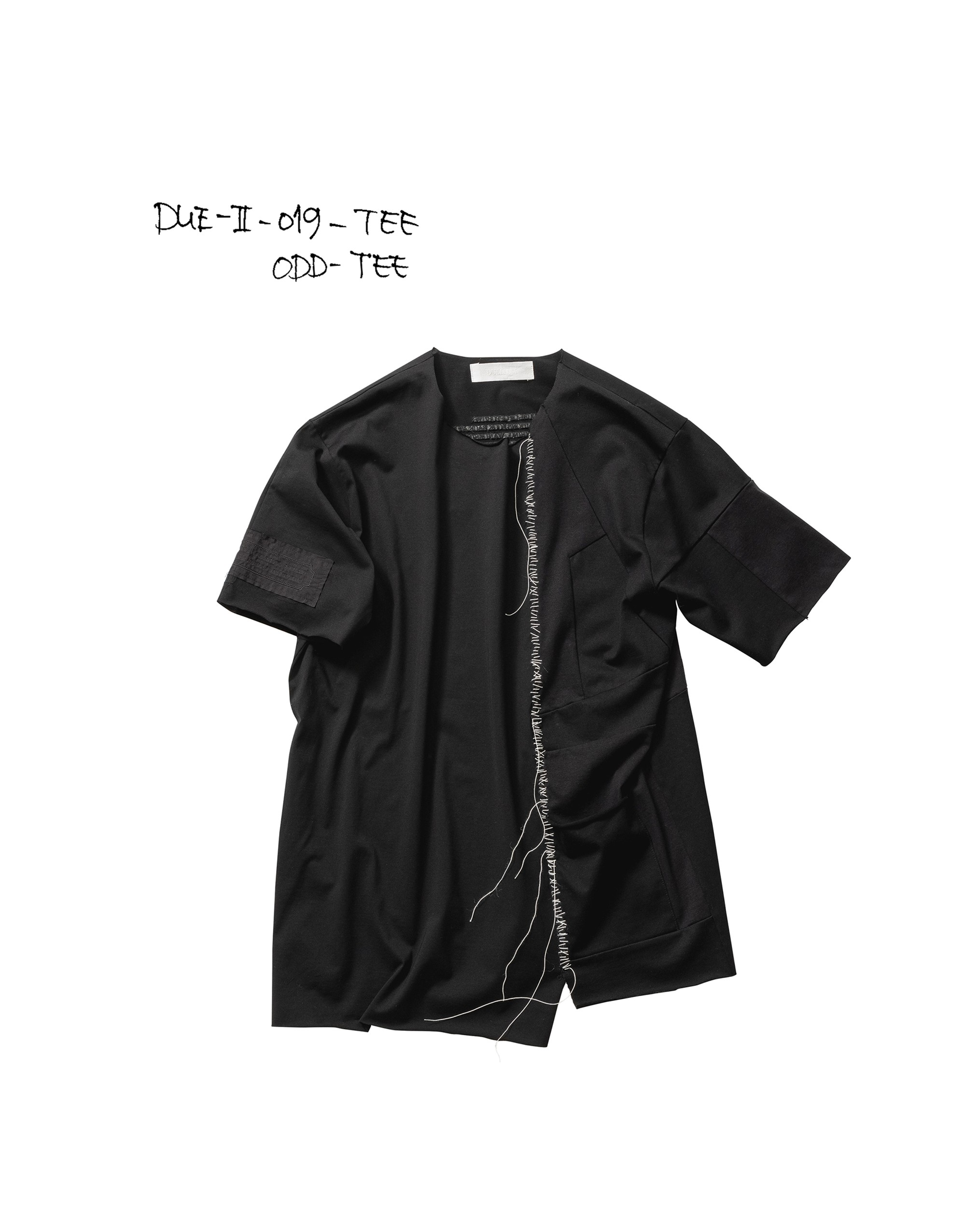 21SS DUE-Ⅱ-019-TEE-BLK ODD TEE