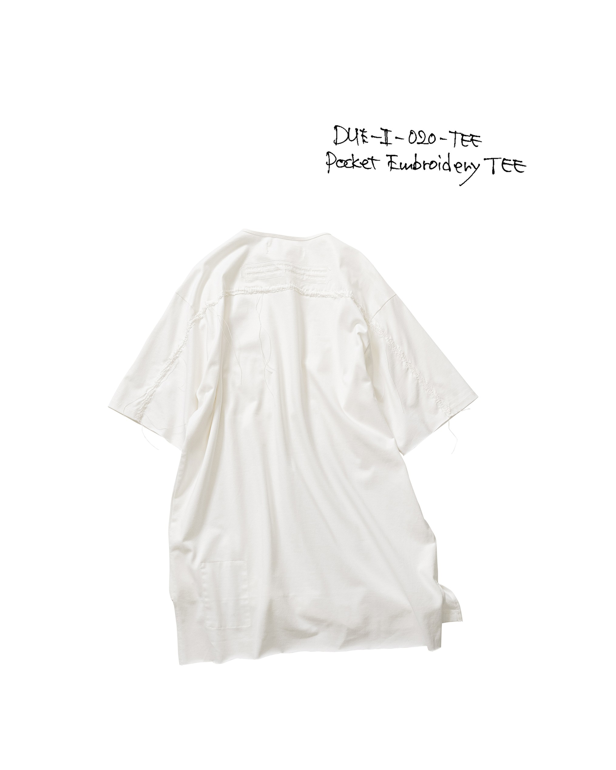 21SS DUE-Ⅱ-020-TEE-WHT POCKT-EMBROIDERY TEE