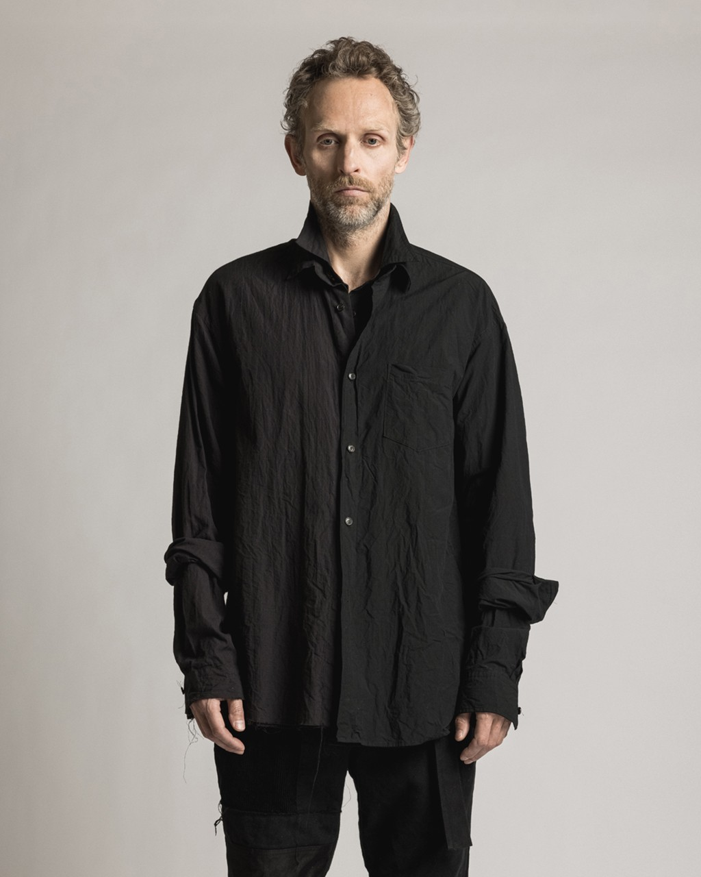 21AW DUE-Ⅲ-031-SHT-BLK Dual Shirt