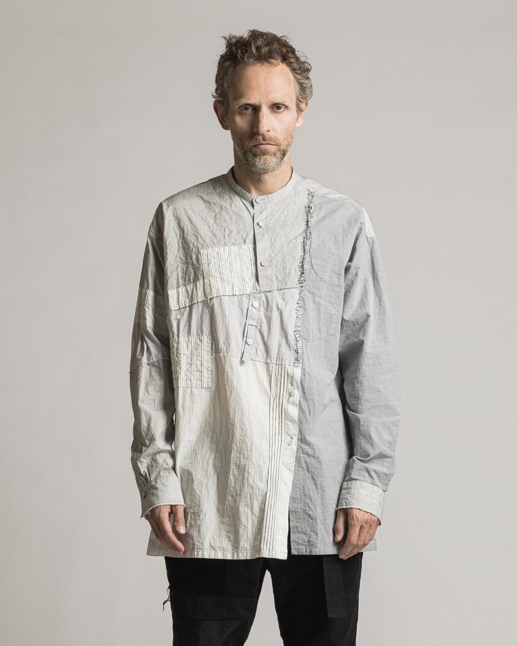 21AW DUE-Ⅲ-030-SHT Stripe Collage Shirt