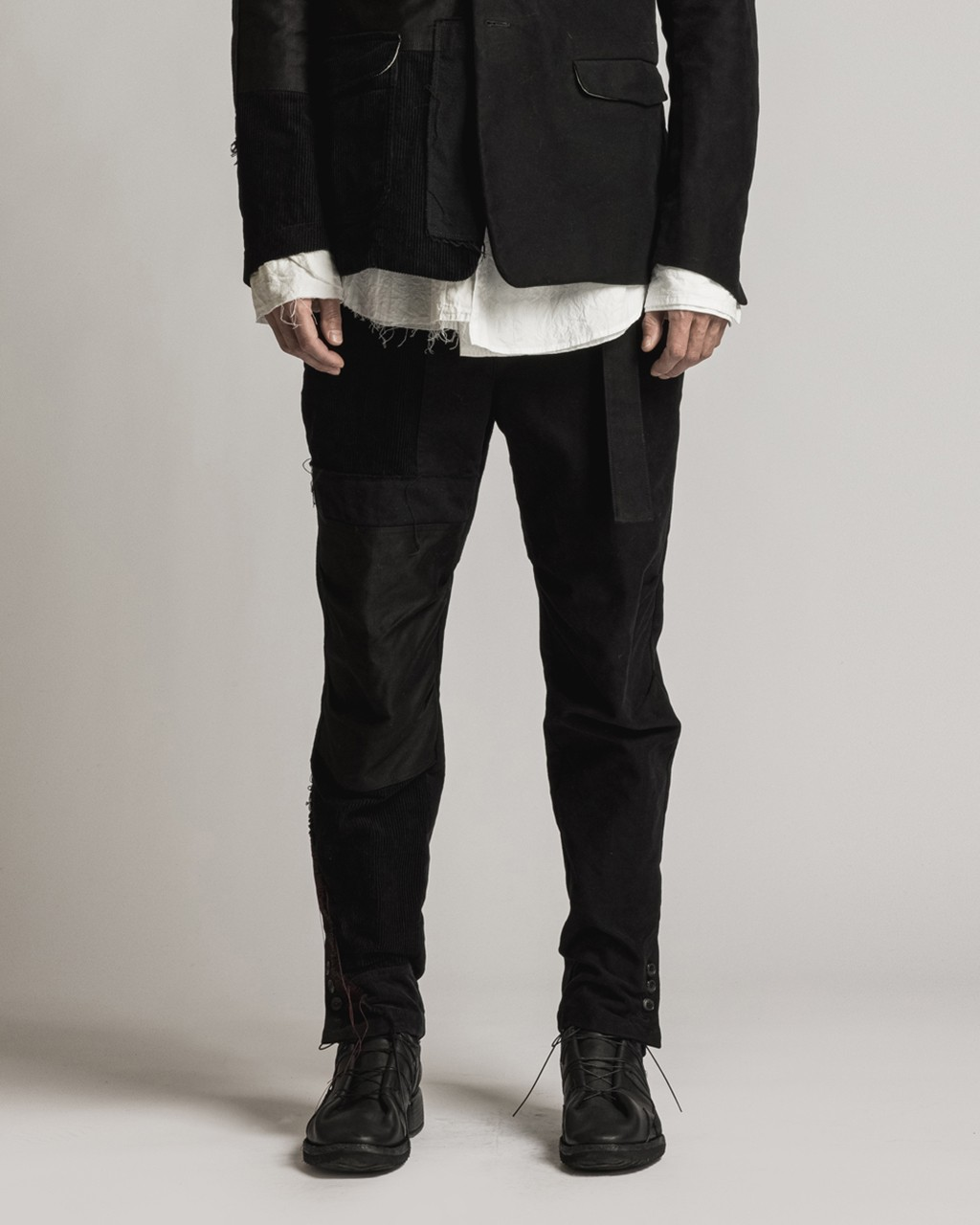 21AW DUE-Ⅲ-027-TRS Patched Slim Pants