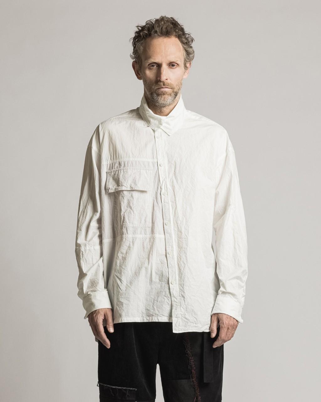 21AW DUE-Ⅲ-033-SHT-WHT Diagonal Shirt