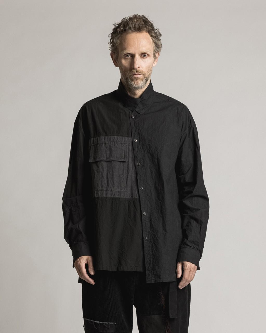 21AW DUE-Ⅲ-033-SHT-BLK Diagonal Shirt
