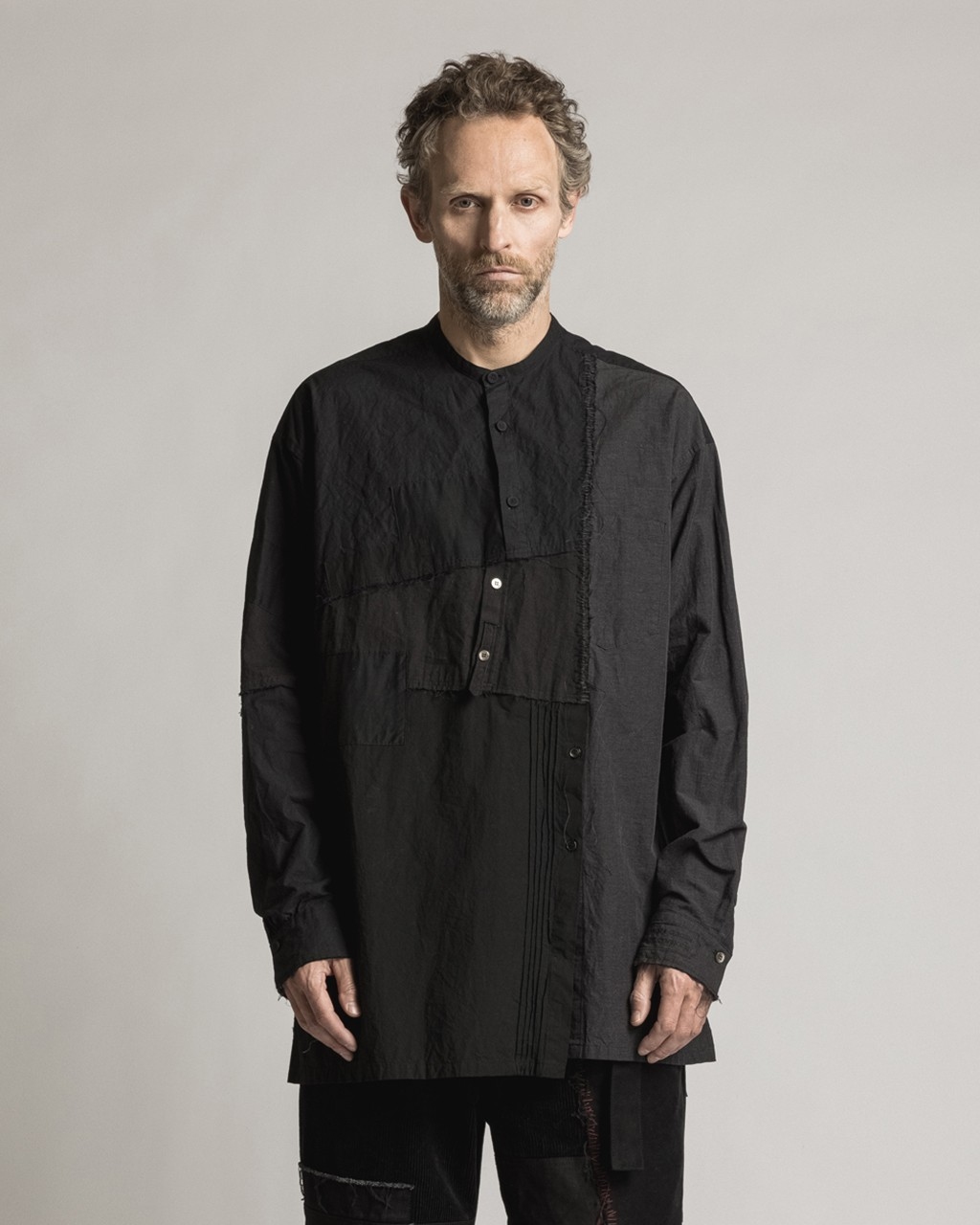 21AW DUE-Ⅲ-029-SHT-BLK Collage Shirt