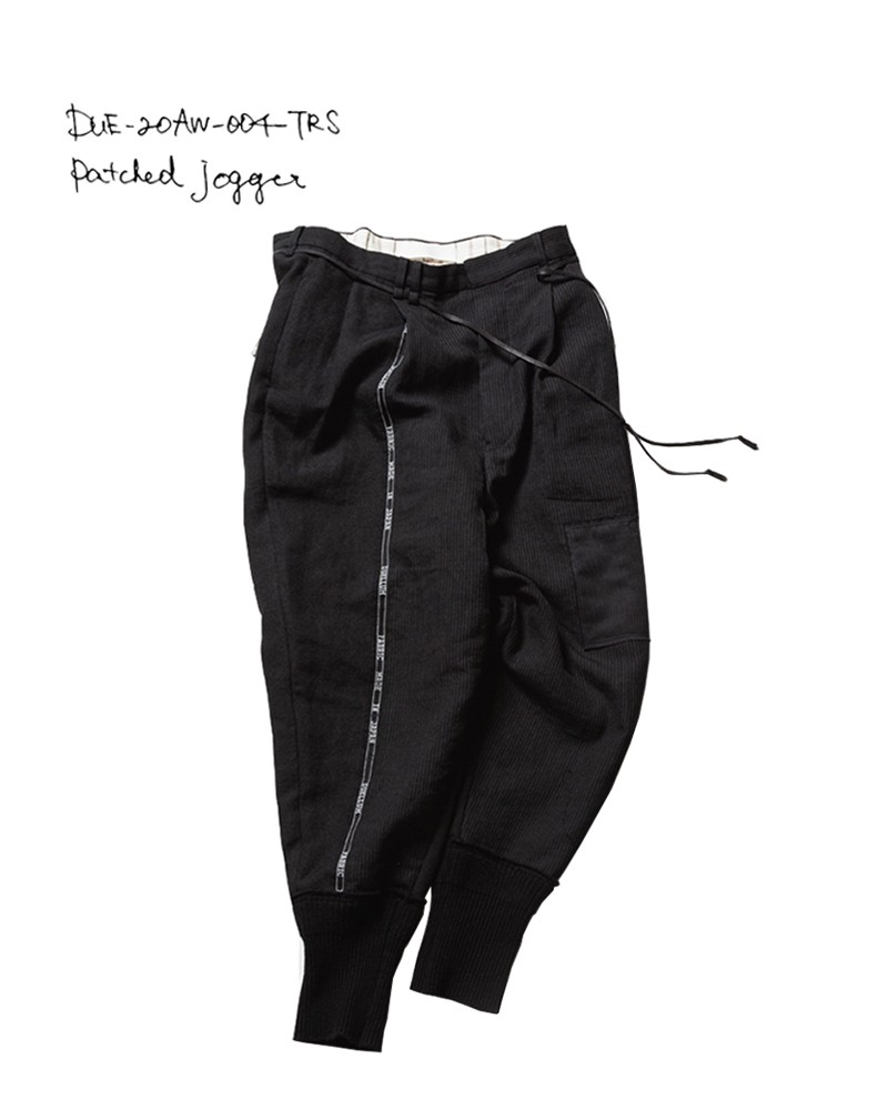 20-21AW DUE-20AW-004-TRS patched jogger pants