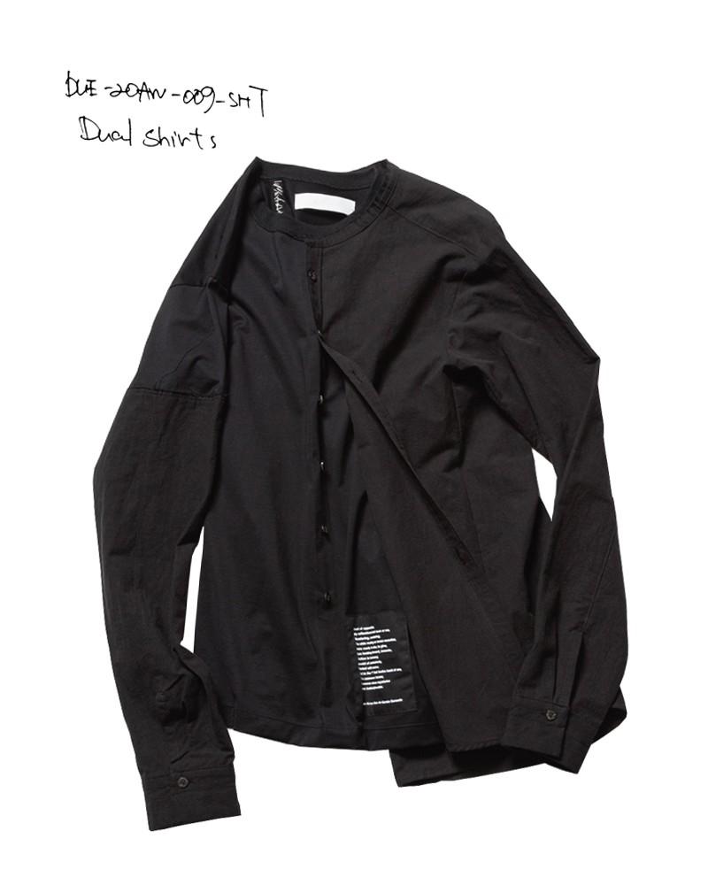 20-21AW DUE-20AW-009-SHT-BLK dual shirts