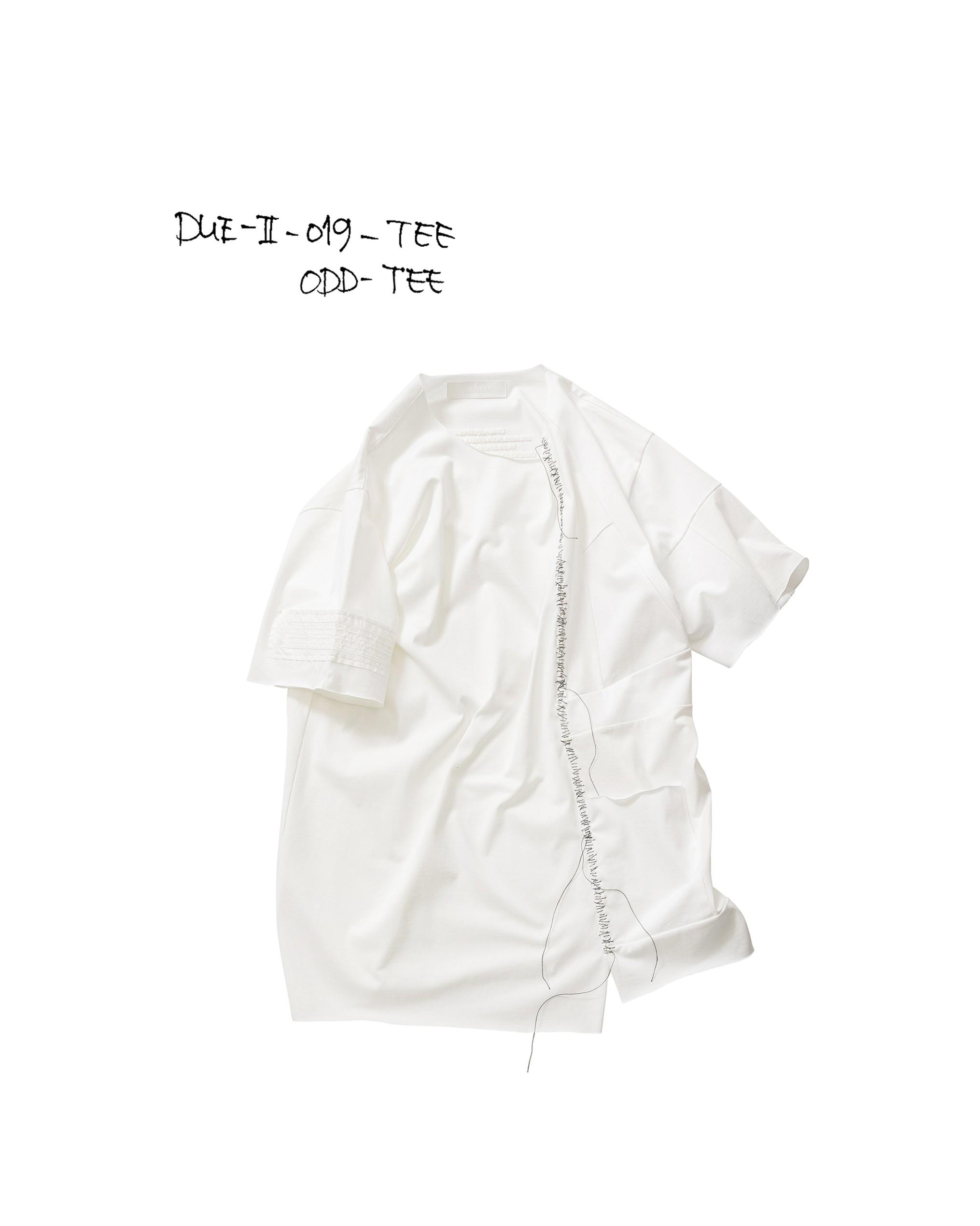 21SS DUE-Ⅱ-019-TEE-WHT ODD TEE