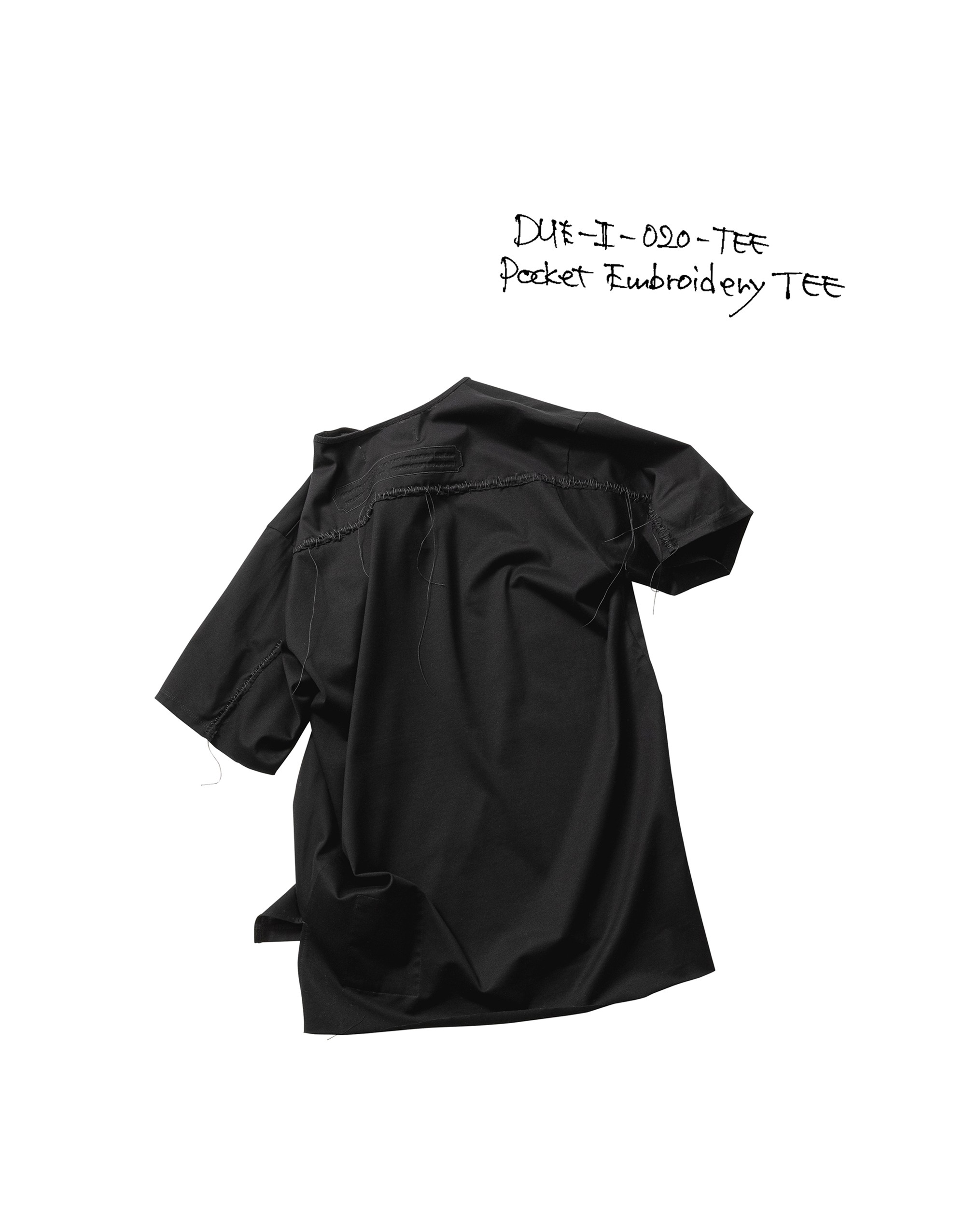 21SS DUE-Ⅱ-020-TEE-BLK POCKT-EMBROIDERY TEE